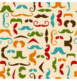 seamless pattern with color mustache vector image
