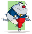 Gray Bulldog Worker vector image