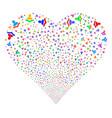 reader fireworks heart vector image
