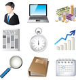icons business vector image