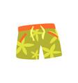 green shorts for swimming cartoon vector image