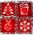 Grunge Christmas vector image