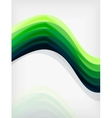Green eco abstract line composition vector image vector image