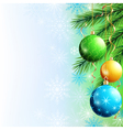Greeting card New Year and Christmas background vector image vector image