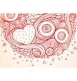Abstract doodle ethnic hand drawn love vector image