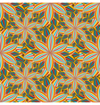 Seamless pattern with colorful flower vector image