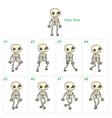 Animation of skeleton walking vector image