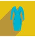 Flat icon with long shadow elegant dress vector image