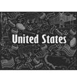 United States chalk vector image