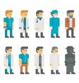 Flat design doctor uniform set vector image vector image