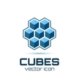 Abstract icon with 3d cubes vector image