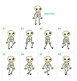 Animation of skeleton walking vector image