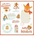 Cute Cards Notes Stickers Labels Tags vector image