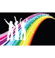 Disco dancers vector image