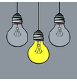 doodle style light bulbs vector image