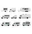 food trucks realistic set vector image