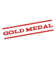 Gold Medal Watermark Stamp vector image