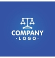 Lawyer company logo template vector image