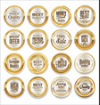 luxury sale silver labels collection vector image