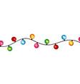 round bulb christmas light decoration celebration vector image