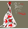 template for wedding card vector image