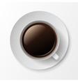 Coffee Cup Mug with Crema Foam Bubbles vector image