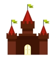 Medieval castle icon flat style vector image