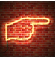 Neon sign on wall vector image
