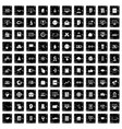 100 e-learning icons set grunge style vector image