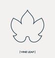 Vine leaf outline icon grape leaf vector image