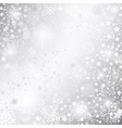 Shiny silver Christmas background vector image