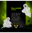 Halloween ghost background with sample text vector image