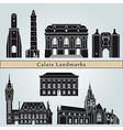Calais landmarks and monuments vector image vector image