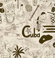 Retro sketch Cuban seamless pattern vector image