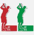golf hot deal label sticker vector vector image vector image