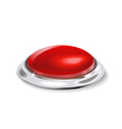 red button control vector image vector image
