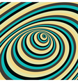 Abstract swirl background Optical vector image vector image
