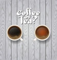 coffee on wooden background vector image