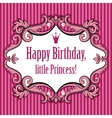 Birthday card for little princess vector image