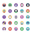 artificial intelligence flat icons pack vector image
