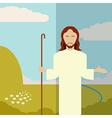Flat icon Jesus1 vector image