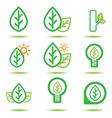 green lcon vector image