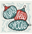 Happy new year handdrawn lettering vector image