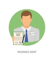 Insurance Agent Flat Icon vector image