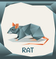 origami grey rat vector image