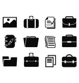 portfolio icons set vector image