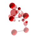Red molecule vector image