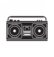 Retro Tape Recorder vector image