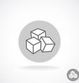 Sugar logo Three cubes vector image