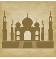Taj Mahal on grunge background vector image